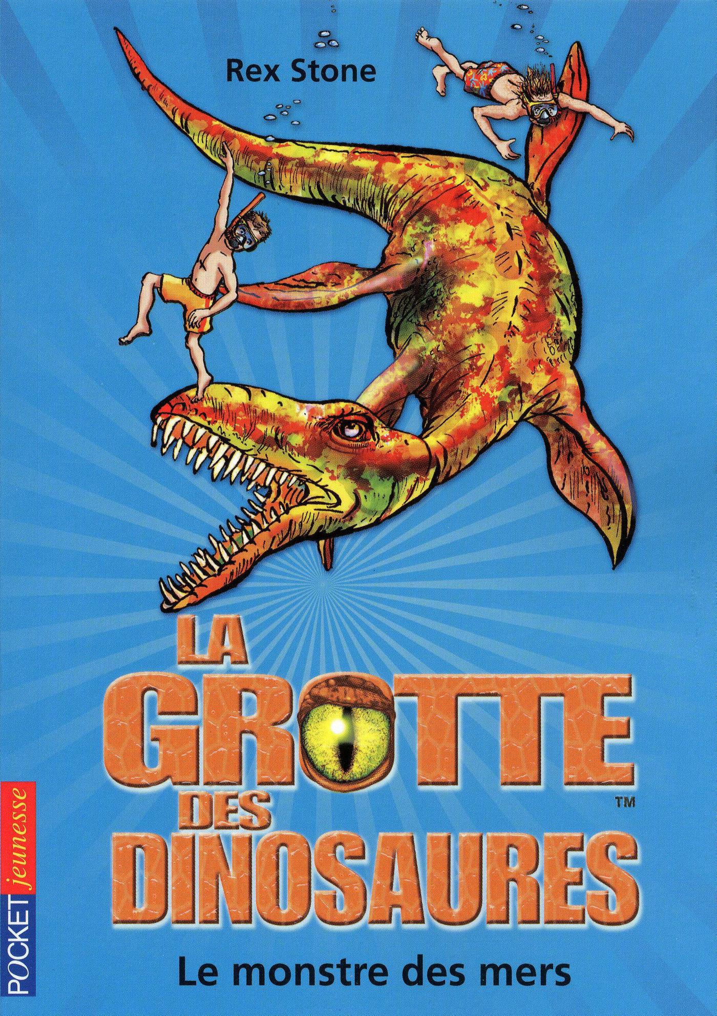 La grotte des dinosaures tome 8, LE MONSTRE DES MERS
