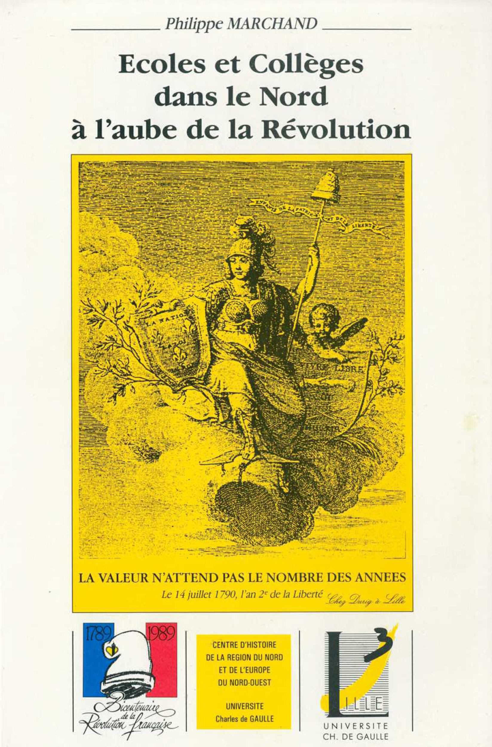 Écoles et collèges dans le Nord à l'aube de la Révolution