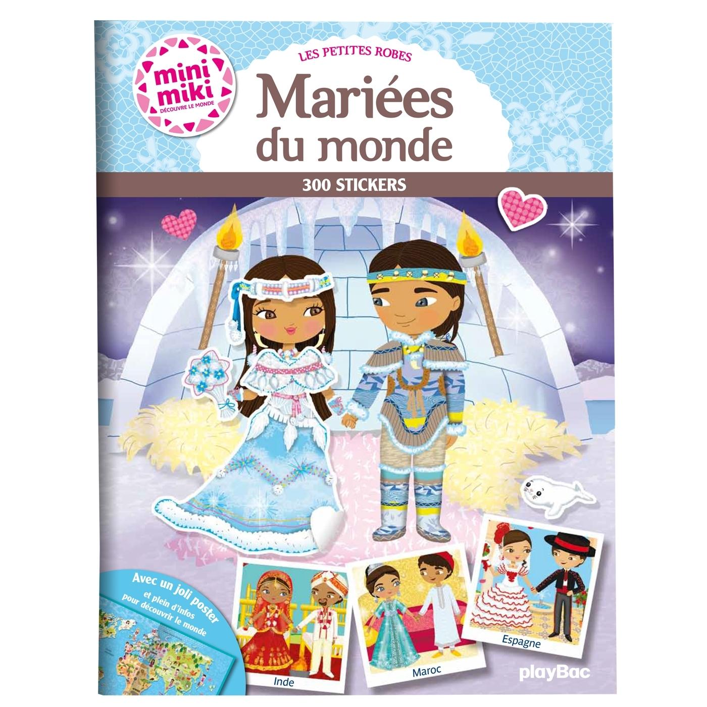 MINIMIKI - LES ROBES DE MARIEE DU MONDE - STICKERS