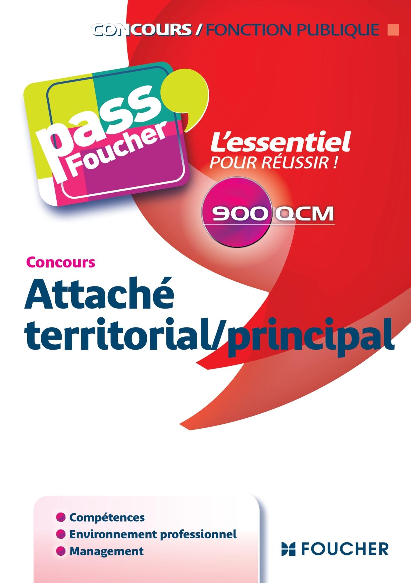 PASS'FOUCHER - ATTACHE TERRITORIAL/PRINCIPAL