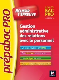 PREPABAC PRO - GESTION ADMINISTRATIVE DES RELATIONS AVEC LE PERSONNEL - G.A - N 3