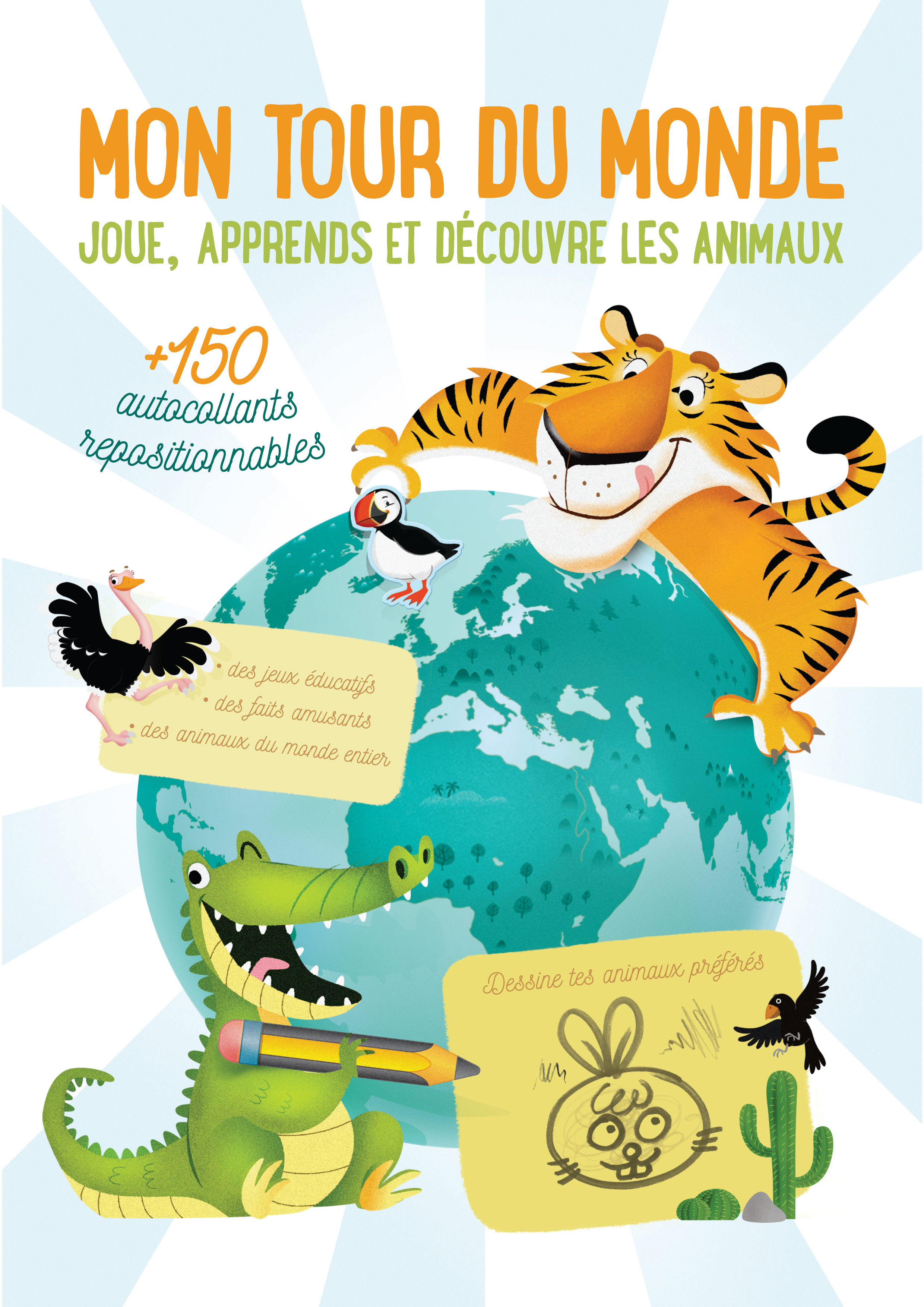 TOUR DU MONDE JOUE APPRENDS ET DECOUVRE LES ANIMAUX (MON)