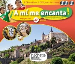 A MI ME ENCANTA ESPAGNOL CYCLE 4 / 4E LV2 - COFFRET CD/DVD - ED. 2017