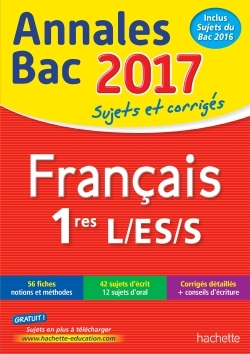 ANNALES BAC 2017 - FRANCAIS 1ERES