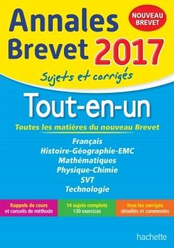 ANNALES BREVET 2017 LE TOUT-EN-UN 3EME