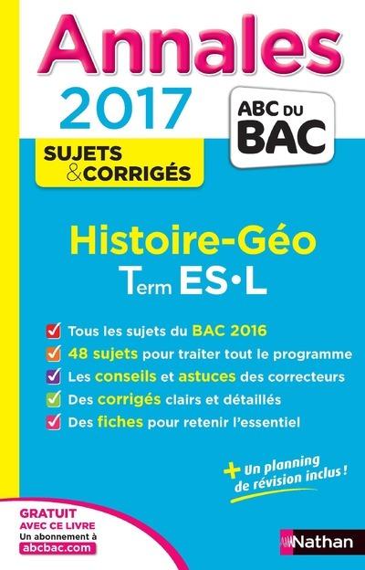ANNALES BAC 2017 HISTOIRE GEOGRAPHIE TERMINALE L ES - CORRIGE