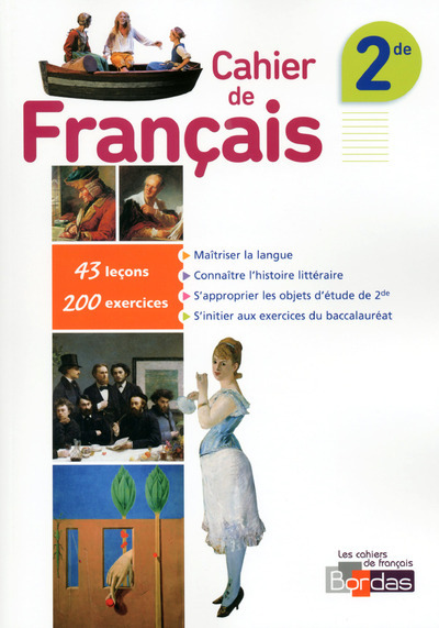 CAHIER DE FRANCAIS 2DE 2015