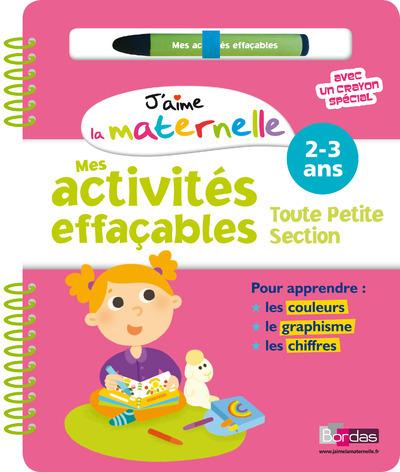ACTIVITES EFFACABLES TPS