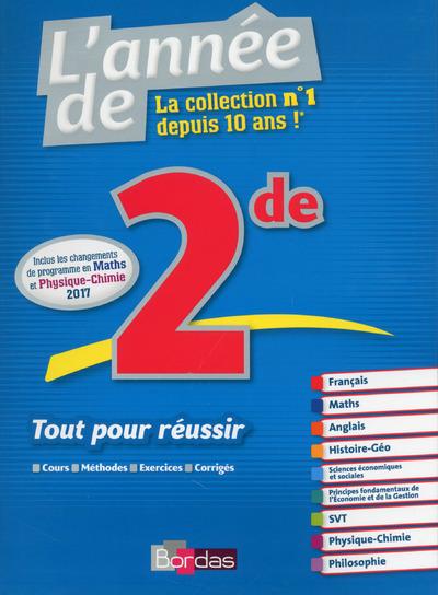L'ANNEE DE 2DE TOUT POUR REUSSIR