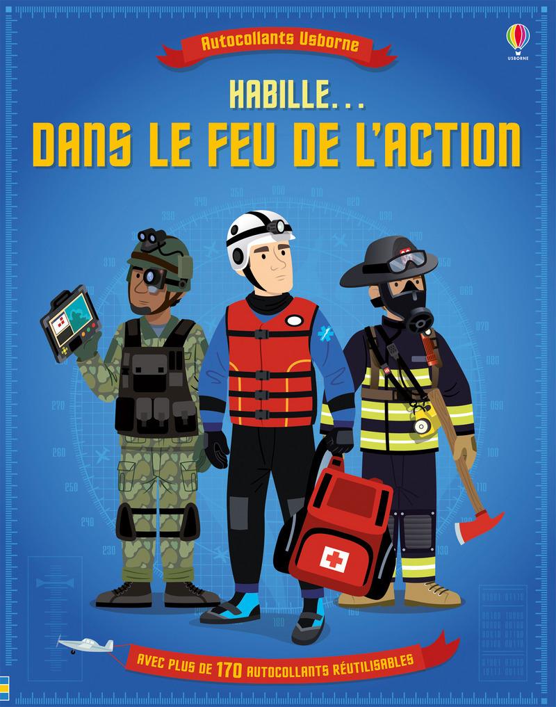 HABILLE... DANS LE FEU DE L'ACTION - AUTOCOLLANTS USBORNE