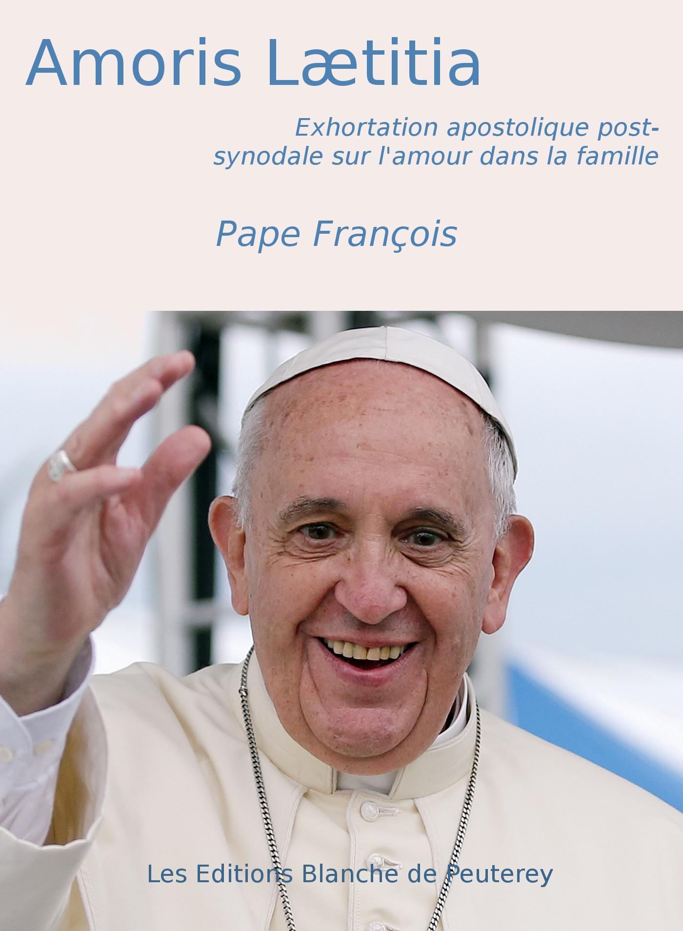 Amoris Laetitia, EXHORTATION APOSTOLIQUE POST-SYNODALE SUR L'AMOUR DANS LA FAMILLE