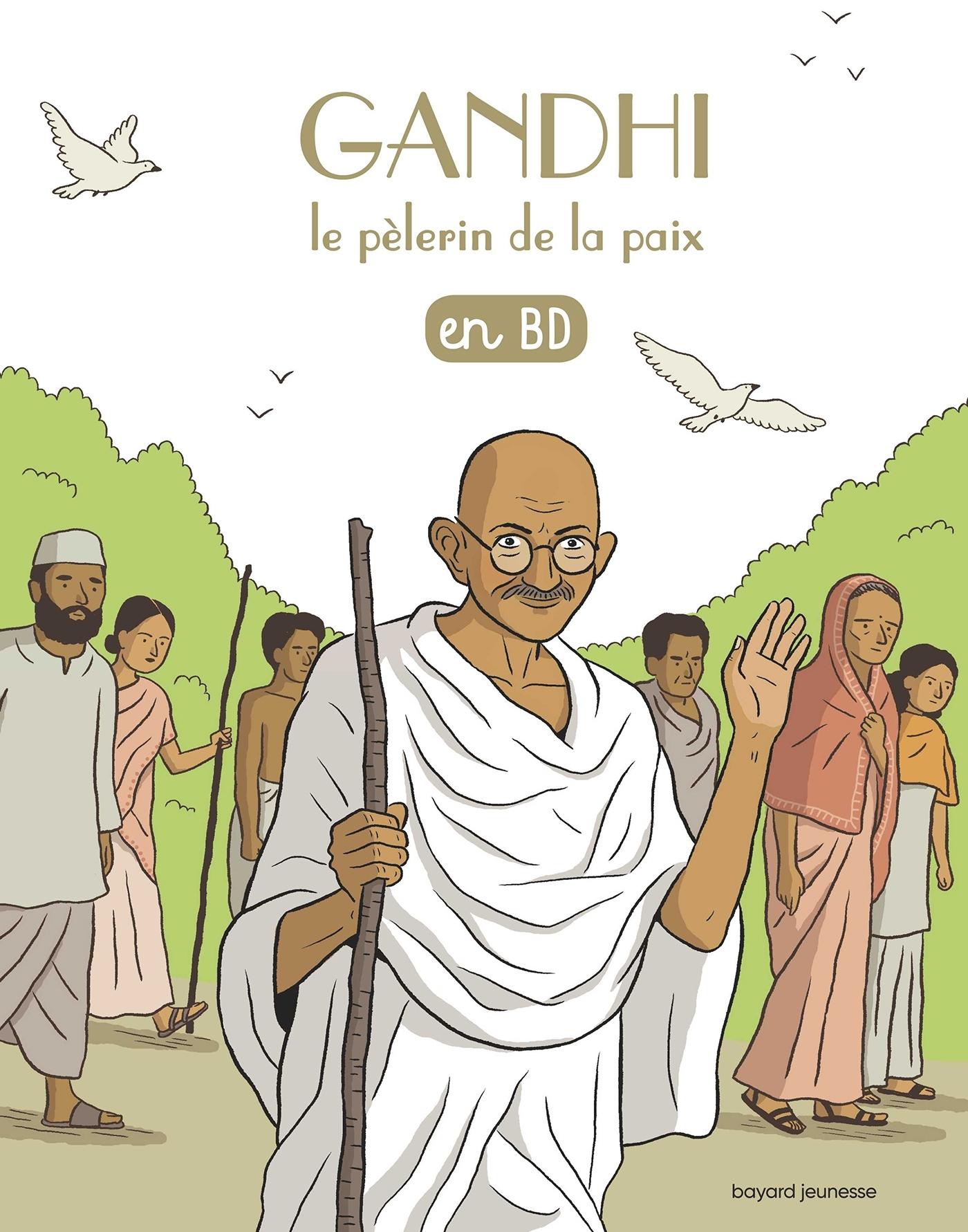 GANDHI, LE PELERIN DE LA PAIX, EN BD
