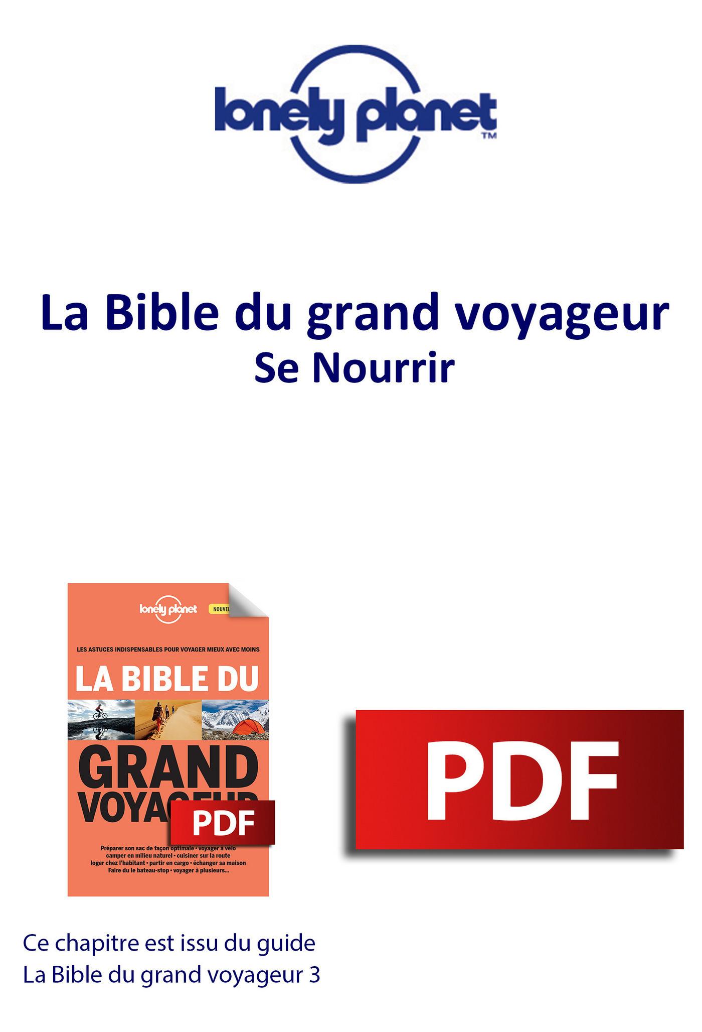 Bible du grand voyageur - Se Nourrir