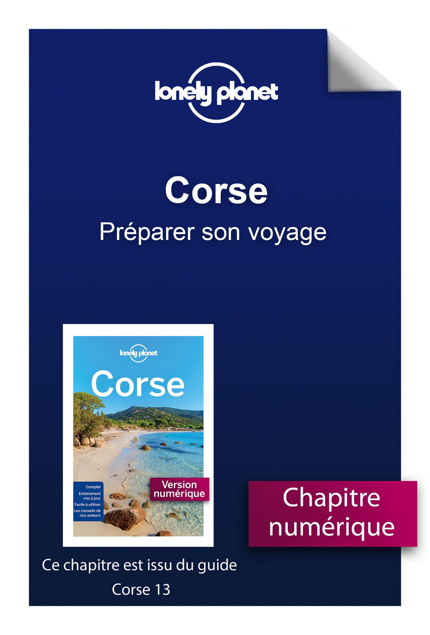Corse - Préparer son voyage