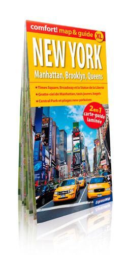 NEW YORK MANHATTAN BROOKLYN...(MAP&GUIDE XL) LAMINEE