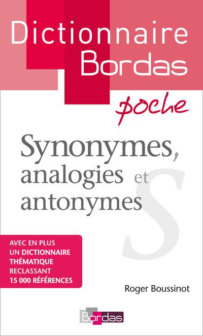 DICTIONNAIRE BORDAS POCHE SYNONYMES ANALOGIES ET  ANTONYMES
