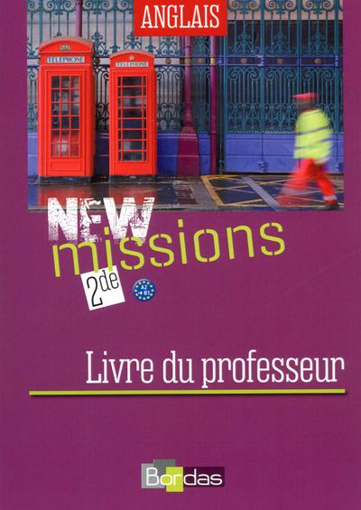 NEW MISSIONS ANGLAIS 2DE PROF