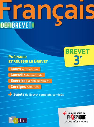 DEFIBREVET FRANCAIS 3E
