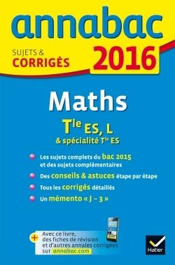 ANNALES ANNABAC 2016 MATHS TLE ES, L