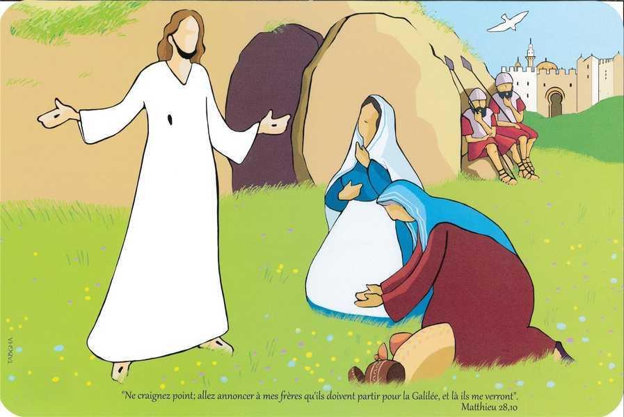 TABLEAU D'EVANGILE EN PVC, LA  RESURRECTION