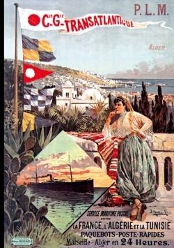 CARNET AFFICHE PAQUEBOT POSTE ALGERIE TUNISIE
