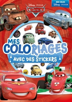 CARS, MES COLORIAGES AVEC STICKERS