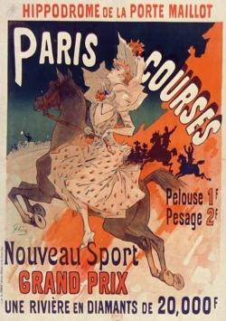 CARNET AFFICHE HIPPODROME PORTE MAILLOT PARIS