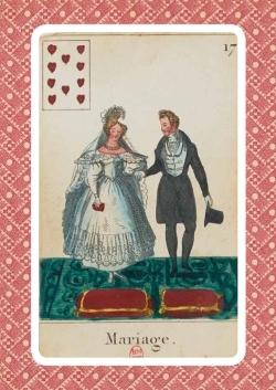 CARNET CARTOMANCIE, MARIAGE, 18E SIECLE