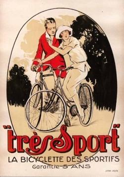 """CARNET AFFICHE """"TRES SPORT"""" BICYCLETTE"""