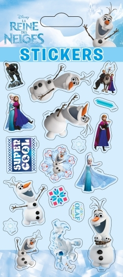 OLAF, LA REINE DES NEIGES, STICKER SHEETS PUFFY