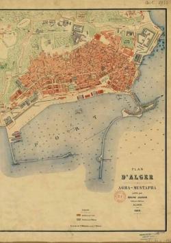CARNET PLAN D'ALGER, JOURDAN, 1888