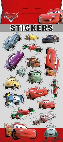 CARS, STICKER SHEETS PUFFY
