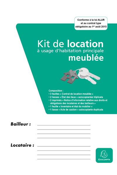 KIT DOSSIER DE LOCATION MEUBLEE - CONTRAT DE LOCATION MEUBLEE + ETATS DES LIEUX