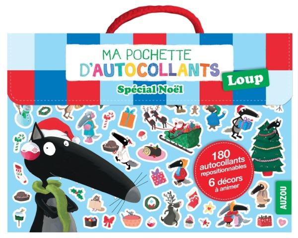 MA POCHETTE D'AUTOCOLLANTS LOUP - SPECIAL NOEL (COLL. MA POCHETTE D'ARTISTE)