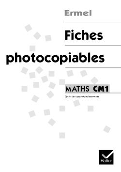 ERMEL - FICHES PHOTOCOPIABLES CM1