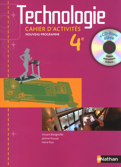 TECHNOLOGIE 4EME CAHIER D'ACTIVITES ELEVE + CD-ROM