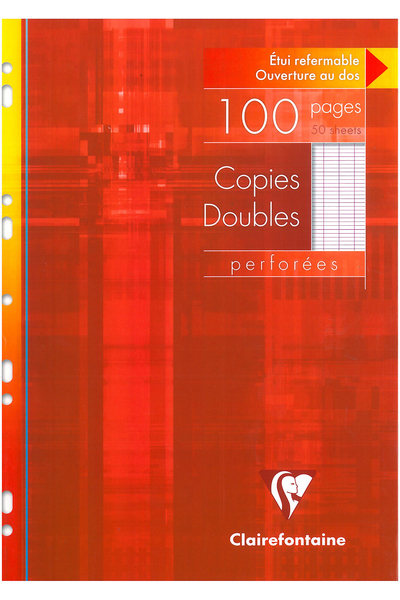 ETUI 100 COPIES DOUBLES PERFOREES SEYES