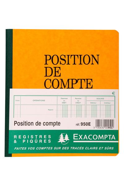 PIQURE POSITION DE COMPTE 21X19CM 80PAGES