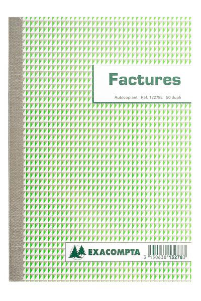 FACTURIER - 50 FEUILLETS AUTOCOPIANTS REF 13278E