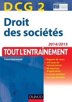 DCG 2 - DROIT DES SOCIETES 2014/2015 - 7E ED - TOUT L'ENTRAINEMENT