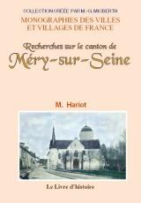 MERY-SUR-SEINE (RECHERCHES SUR LE CANTON DE)