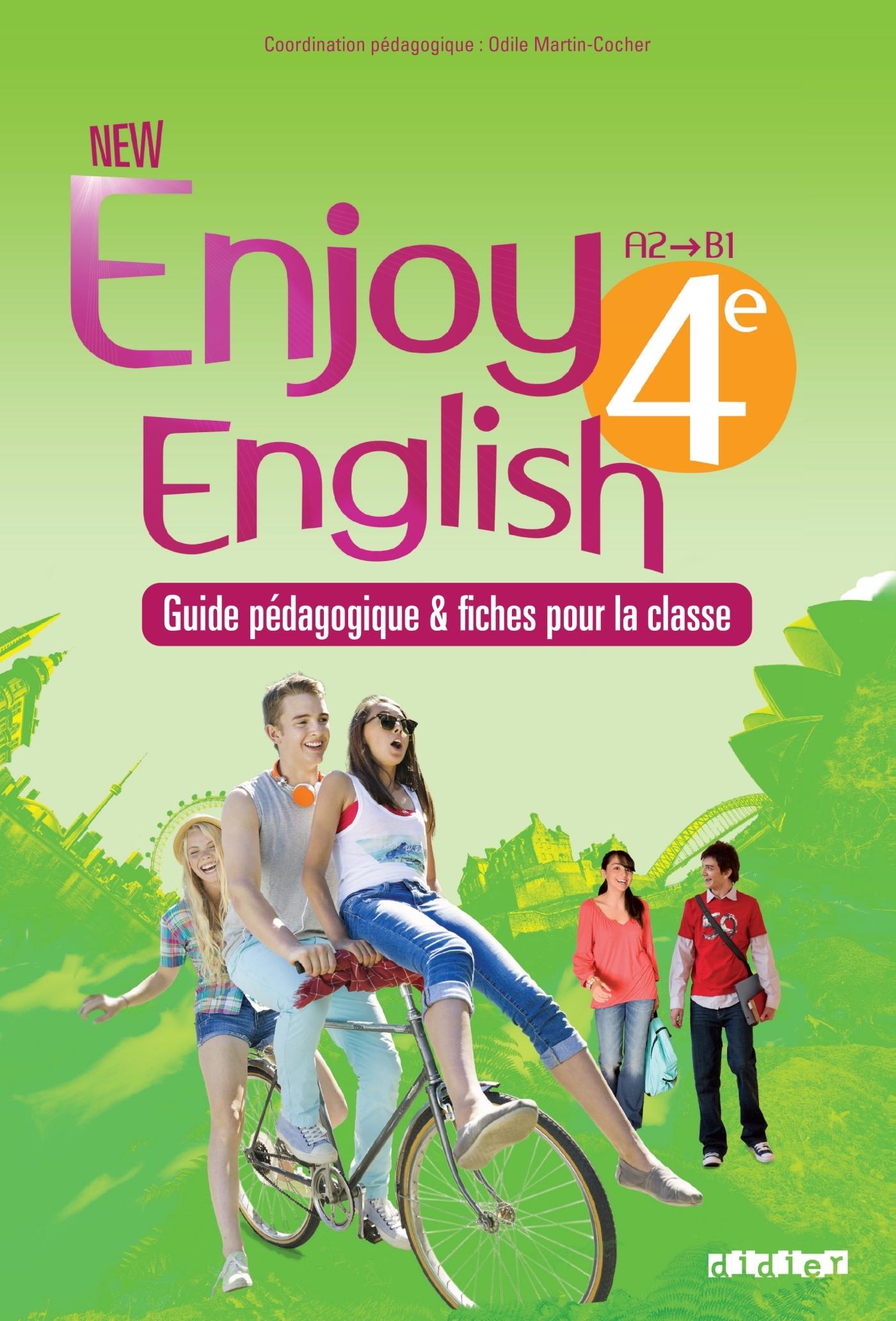 NEW ENJOY ENGLISH 4E - GUIDE PEDAGOGIQUE + FICHES CLASSE