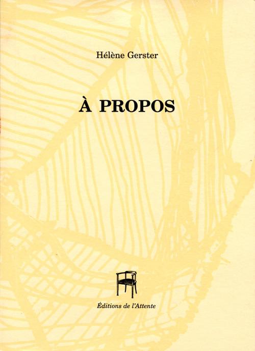 A PROPOS