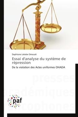 ESSAI D'ANALYSE DU SYSTEME DE REPRESSION