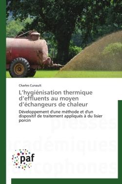 L HYGIENISATION THERMIQUE D EFFLUENTS AU MOYEN D ECHANGEURS DE CHALEUR