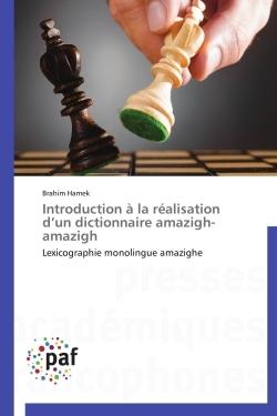 INTRODUCTION A LA REALISATION D UN DICTIONNAIRE AMAZIGH-AMAZIGH