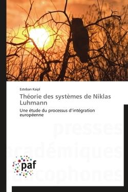 THEORIE DES SYSTEMES DE NIKLAS LUHMANN