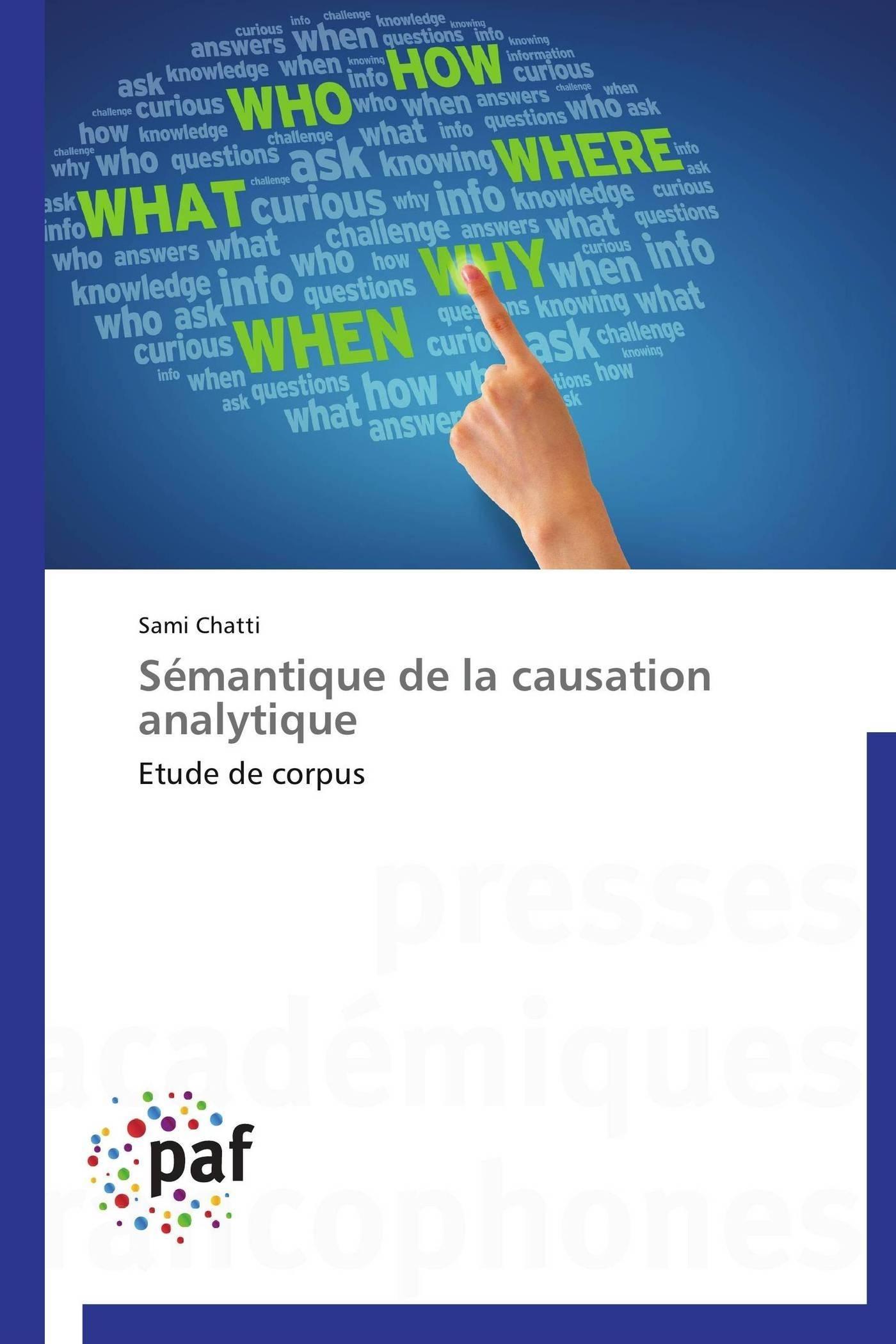 SEMANTIQUE DE LA CAUSATION ANALYTIQUE