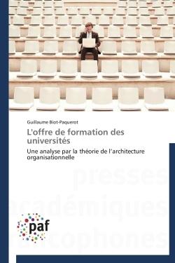 L'OFFRE DE FORMATION DES UNIVERSITES