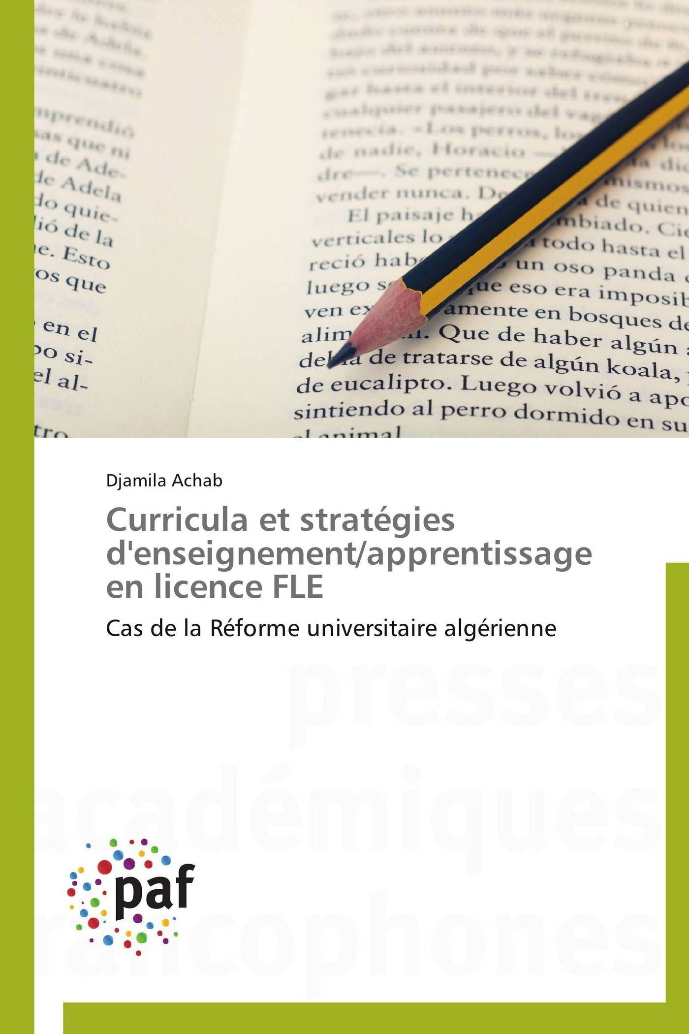 CURRICULA ET STRATEGIES D'ENSEIGNEMENT/APPRENTISSAGE EN LICENCE FLE